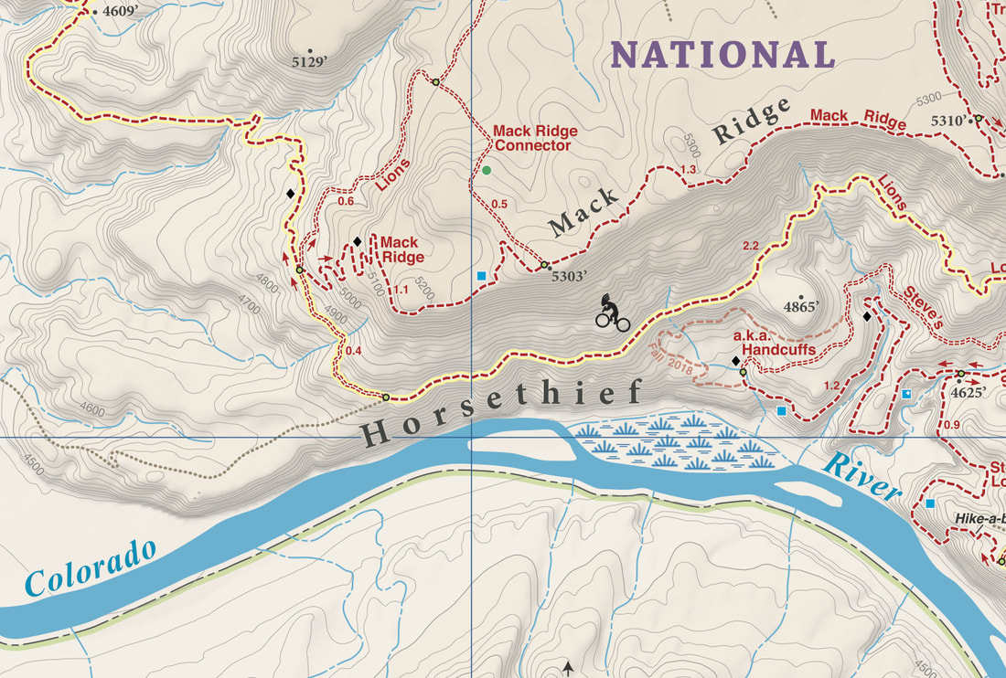 Singletrack Maps Fruita Trail Map