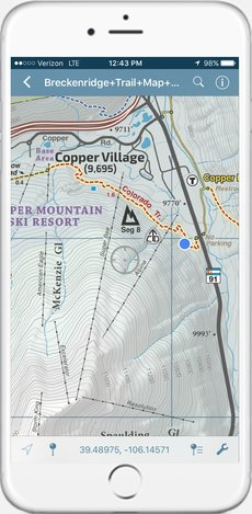 Singletrack Maps Breckenridge Trail Map Summit County